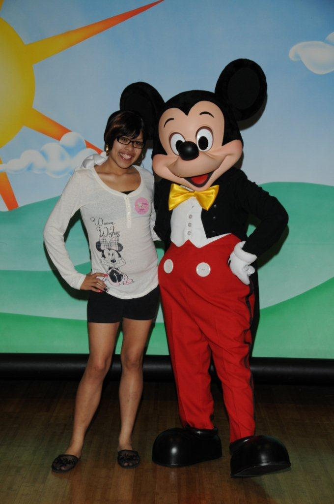 Francheska with Mickey