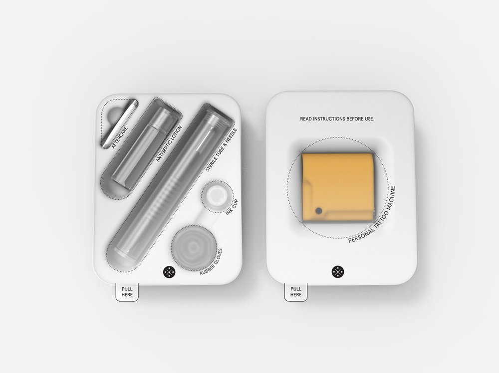 PTM - 01 kit consist of everything necessary to create one tattoo straight away.