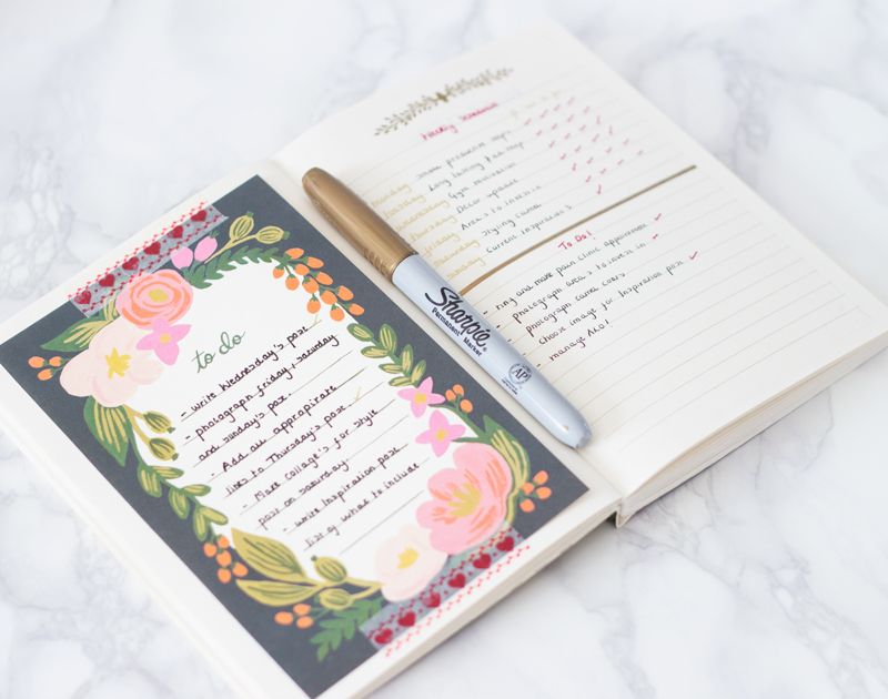 Blogging organiser
