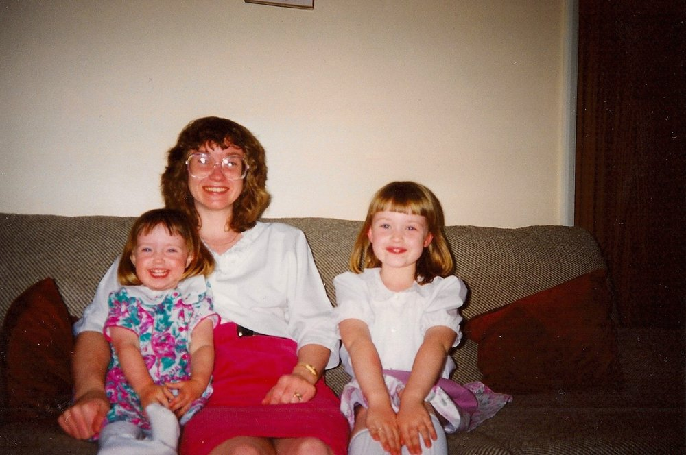 Me on the left, my mum and my sister