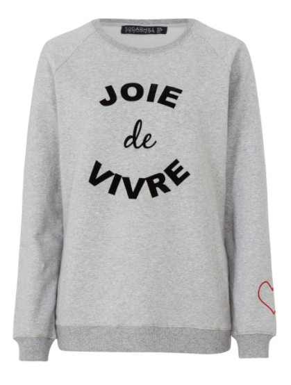 THE SLOGAN SWEATSHIRT* - I love a good slogan sweatshirt, they've been a staple in my wardrobe for years. They're something that I know I can rely on to just simply throw on with jeans or leggings and it's such an easy outfit for day to day. This lovely grey number was a gift from Sugarhill Boutique and it's a traditional sweatshirt material [soft and fluffy inside too, bonus] and then the slogan is felt which adds a little bit more interest than a traditional print. And then my favourite part of this piece is that it's got a little heart on the sleeve which is so sweet.