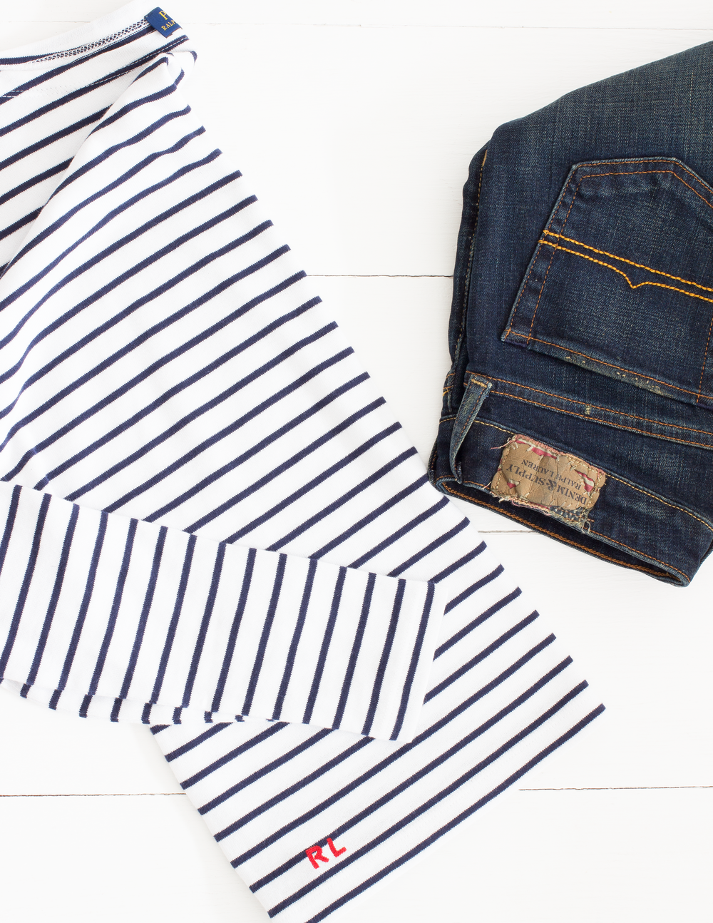 THE STRIPES - Of course, I had to start with the classic striped option because it's always a staple in my wardrobe no matter what the season. Pairing a classic fit striped top with these jeans gives them a little bit more a laid-back look. But then pairing them with loafers, a leather jacket or even a blazer can smarten things up a little whilst still keeping that relaxed fit.
