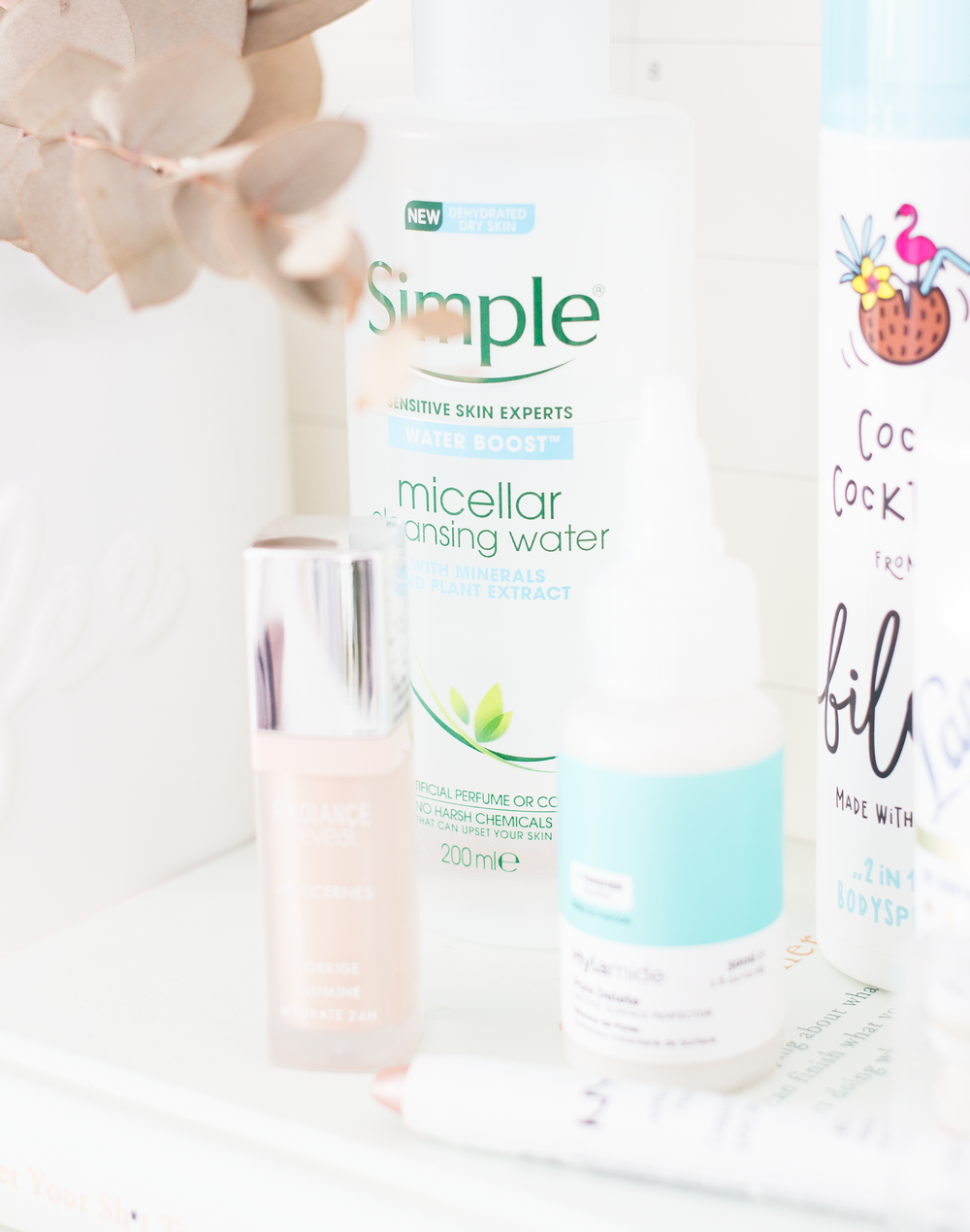 UNDER £10  - SIMPLE HYDRATOR BOOST MICELLAR CLEANSING WATER*: I've been loyal to the Garnier Micellar Water for years. And it takes a lot for me to stray away from it but this new release from Simple has got my heart right now. I thought the Garnier was just like water but this is incredible, you can really feel the hydration hit your skin as well as it removing any scrap of makeup you have on without causing any irritation to the complexion. It's more expensive than the Garnier and you definitely don't get as much. But as of right now I really do think this is better and having that extra hydration in the cooler months is ideal. BILOU COCO COCKTAIL BODY SPRAY*: I can't deny that using a body spray does make me feel like a teenager but this number of Bilou is wonderful. It's a sweet rich coconut scent that lingers of the skin and your clothes for a considerable amount of time. Whenever I just want a top of up scent then I will reach for this rather than a perfume and it's ideal as a money saver without missing out on a dreamy scent.