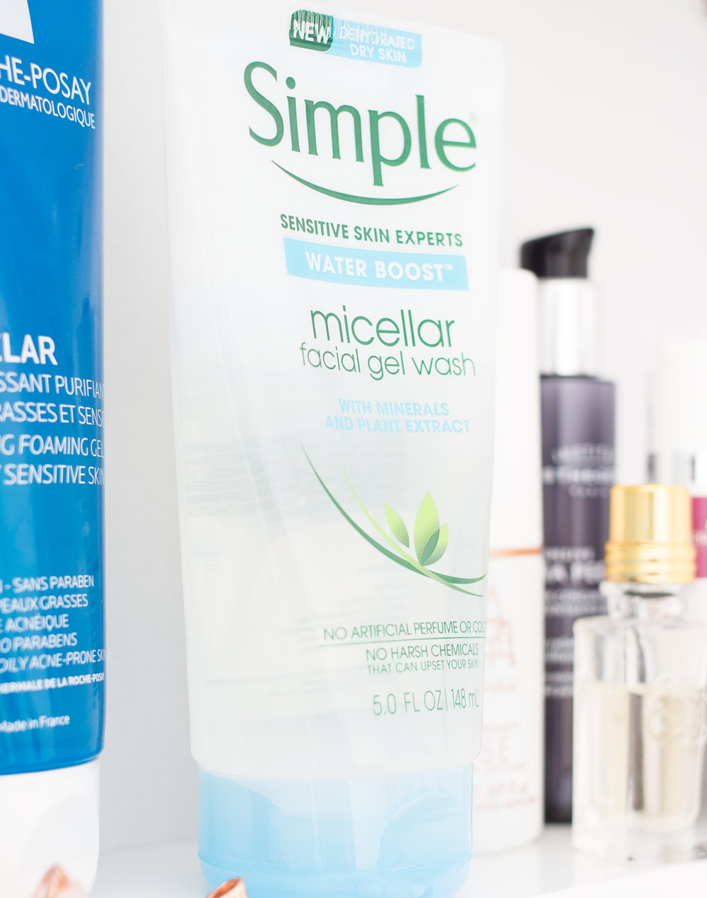 SIMPLE MICELLAR FACIAL GEL WASH* - I've been using the micellar cleansing water from this new line from Simple and absolutely loving it so I was hoping that the face wash would deliver equally good results. Don't let the world gel scare you either as this isn't drying in the slightest and it's actually pretty hydrating like the name suggests. It doesn't do anything fancy, it just simply cleanses the skin and removes any remnants of makeup so I really like to use this in an AM to get everything off my face ready for makeup. It lathers up enough to feel like it's working but it doesn't foam up and subsequently feel tight or drying. And the best thing is that you can get this around your eye area and it doesn't feel like it's going to burn them out of your skull, which you know is always a plus.