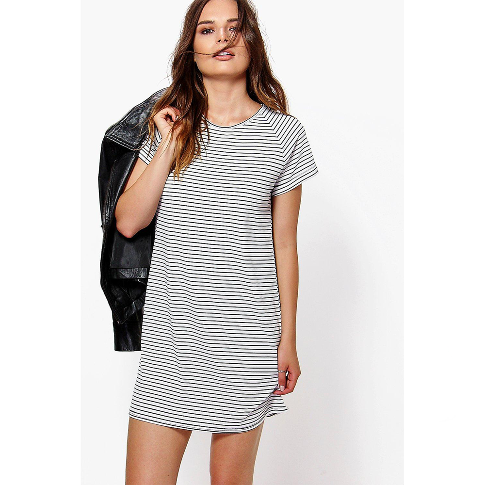 striped t-shirt dress - I absolutely love stripes and my Breton's are amongst some of my most worn items. But I hadn't worn my striped Brandy Melville dress for a good year or so and it's one of my most loved items as it's so baggy and comfortable. I think one the reasons I haven't been reaching for this as much as I should is the sleeves weren't quite right but a few safety pins fixed those and now I find myself wanting to reach for it whenever I'm feeling a little bloated and rubbish. A striped t-shirt dress is such a solid wardrobe staple as it can be paired with so things. My favourite way to wear this is with a pair of Converse, tote bag and then a leather jacket when the climate calls for one.