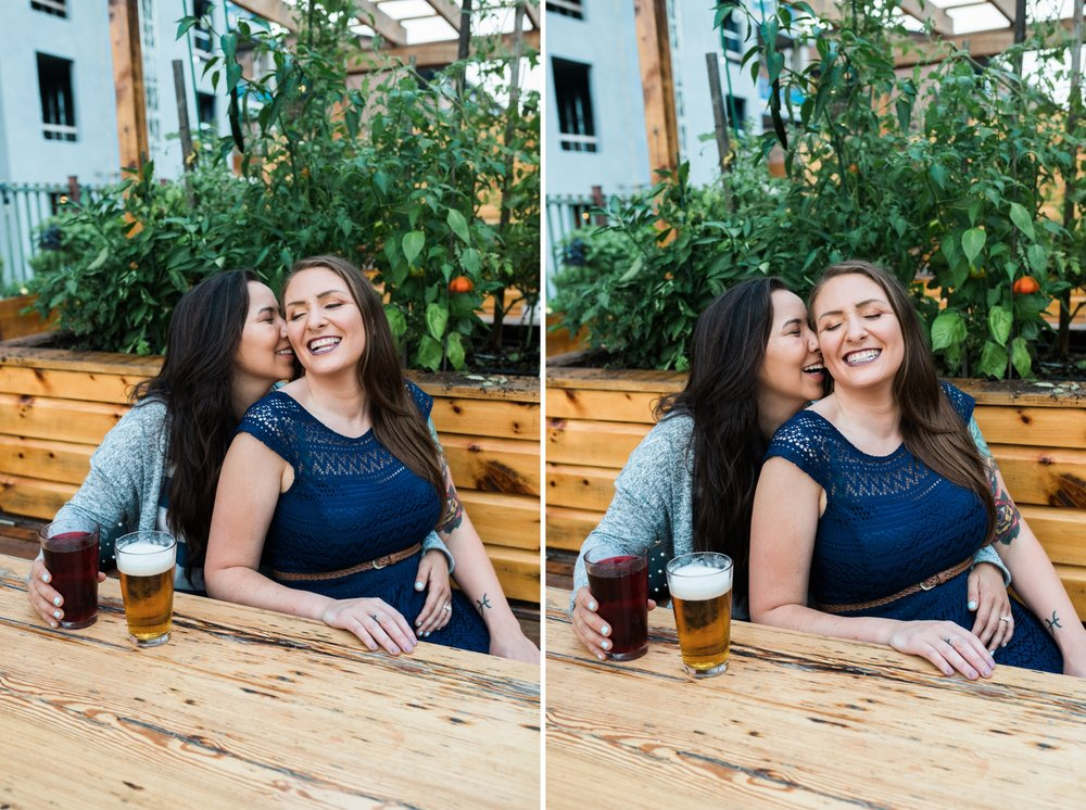 Emily Grace Photo, Lancaster, PA Same-Sex Wedding Photographer, Tellus360 Same-Sex Lesbian Engagement, Photo Session with Dogs