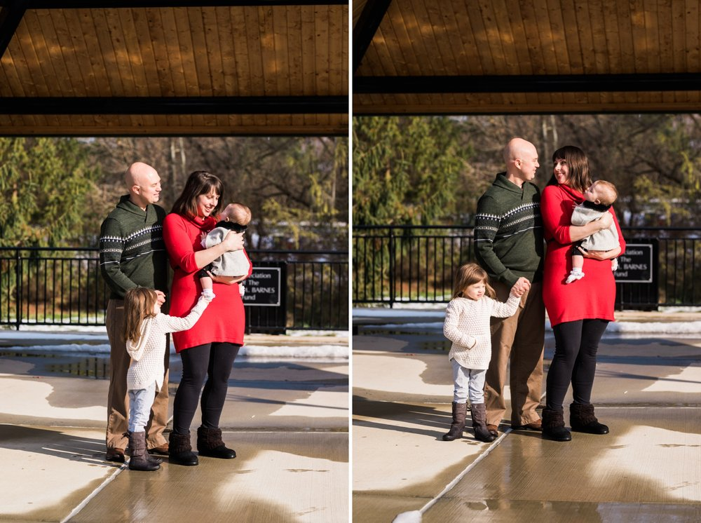 Emily Grace Photography, Elizabethtown PA Family Portrait Photographer, Elizabethtown Borough Park, Winter Family Photos