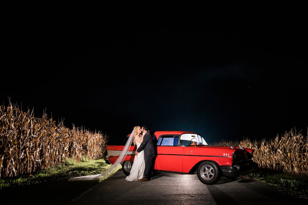Emily Grace Photography, Mount Joy PA Wedding Photographer, Cameron Estate Inn Wedding, Vintage Car