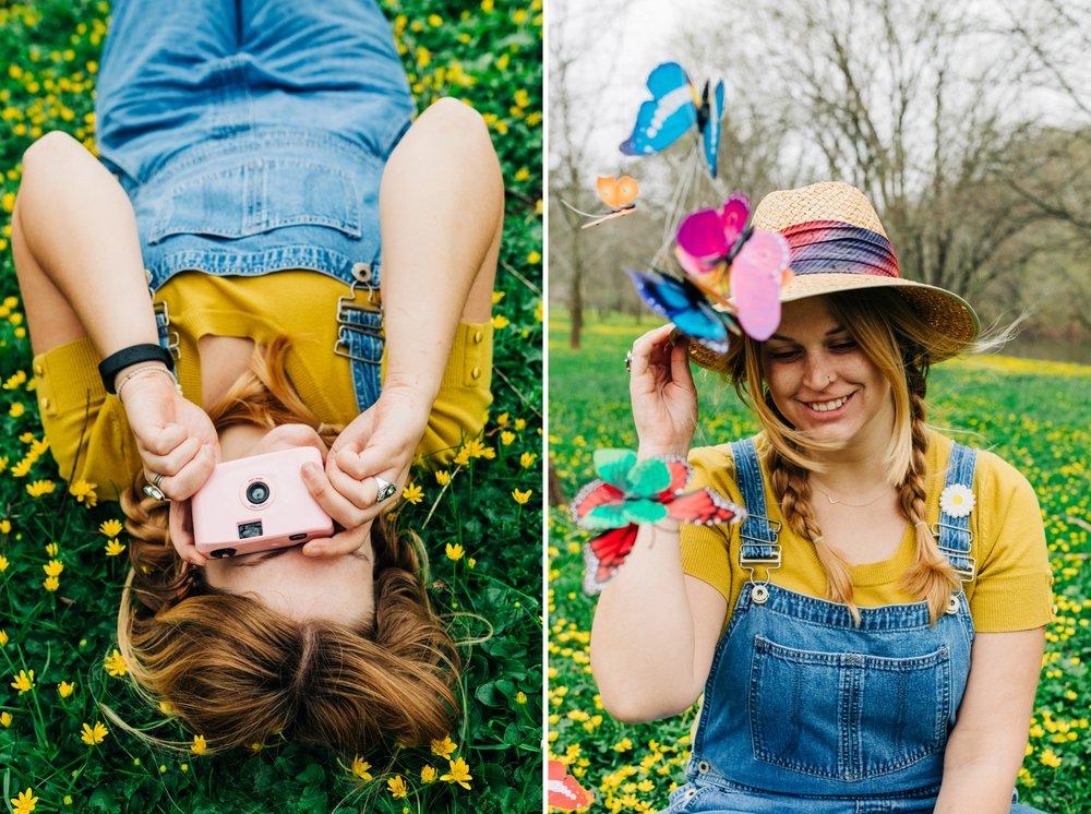 Emily Grace Photography, Lancaster PA Wedding Photographer for Adventurous Couples, Lancaster County Central Park Portrait Session, Spring Flowers in Bloom Photo Shoot