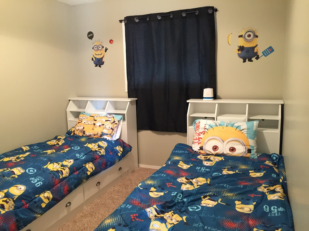 Beds by daddy, headboards by mommy