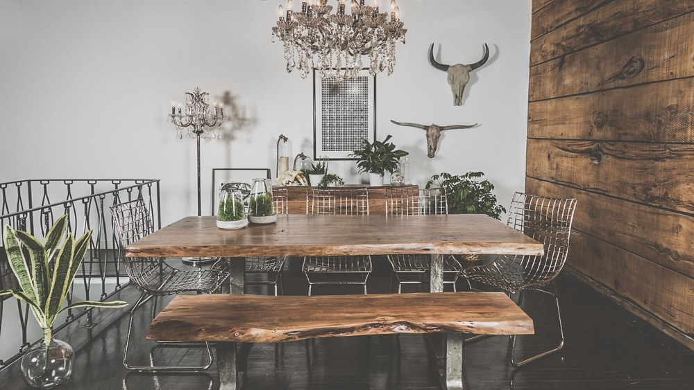 Farmhouse Table & Bench
