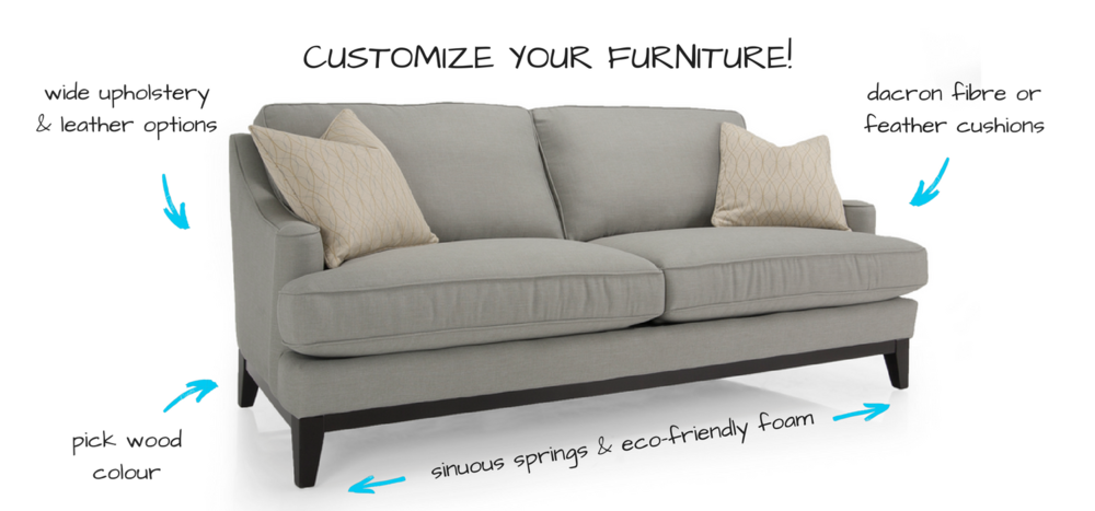 Decor-Rest Custom Sofa options