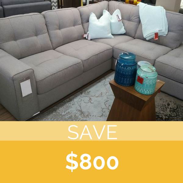 Palliser  Pachuca apartment size sectional