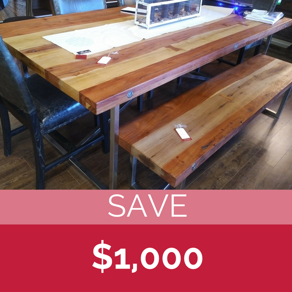 CDI Furniture  Rail wood reclaimed table & bench