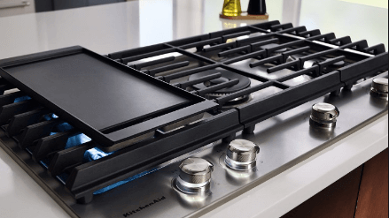 "Kitchen Aid 36"" Gas Cooktop"