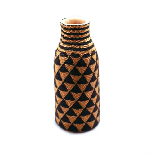 Wood And Hand Beaded Vase The Paper Fig Foundation
