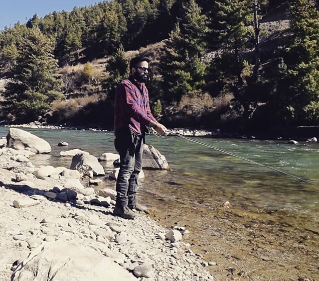 Went fly fishing in the Himalayas and caught a big fat nothing. Thanks @jacob_tunney