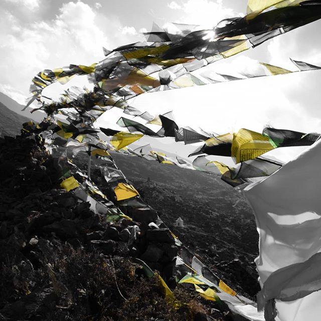 Tibetan Prayer Flags at a funeral ground that I stumbled upon. #nepal #himalayas