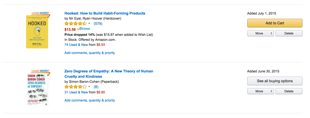 Put books from your notes into an Amazon wish list right away. Buy some when you can.