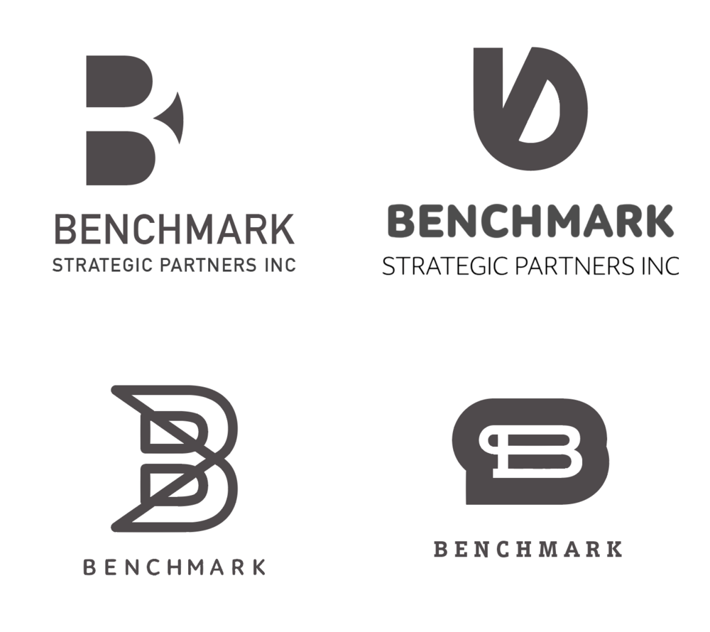 Four examples of logo concepts I arrived at.
