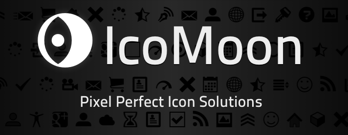 IcoMoon Tool for generating Icon Sets