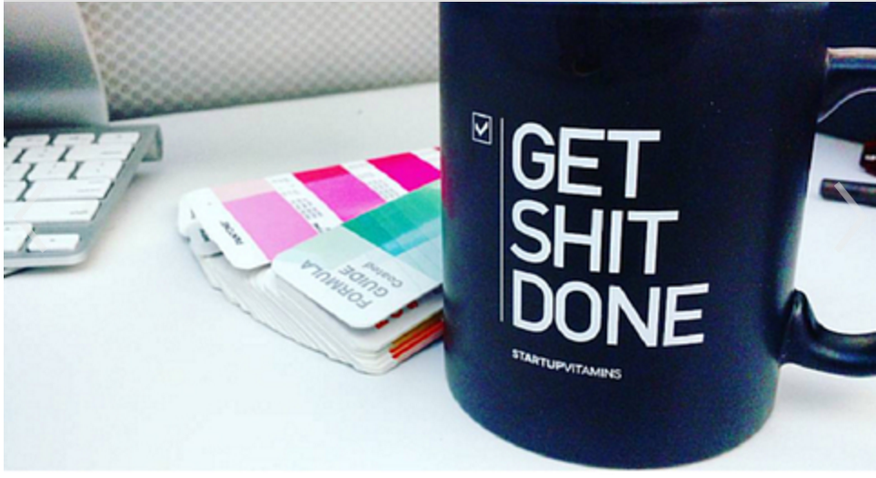 Cool mug with a reminder.