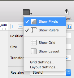 In Sketch - turn on Show Pixels.