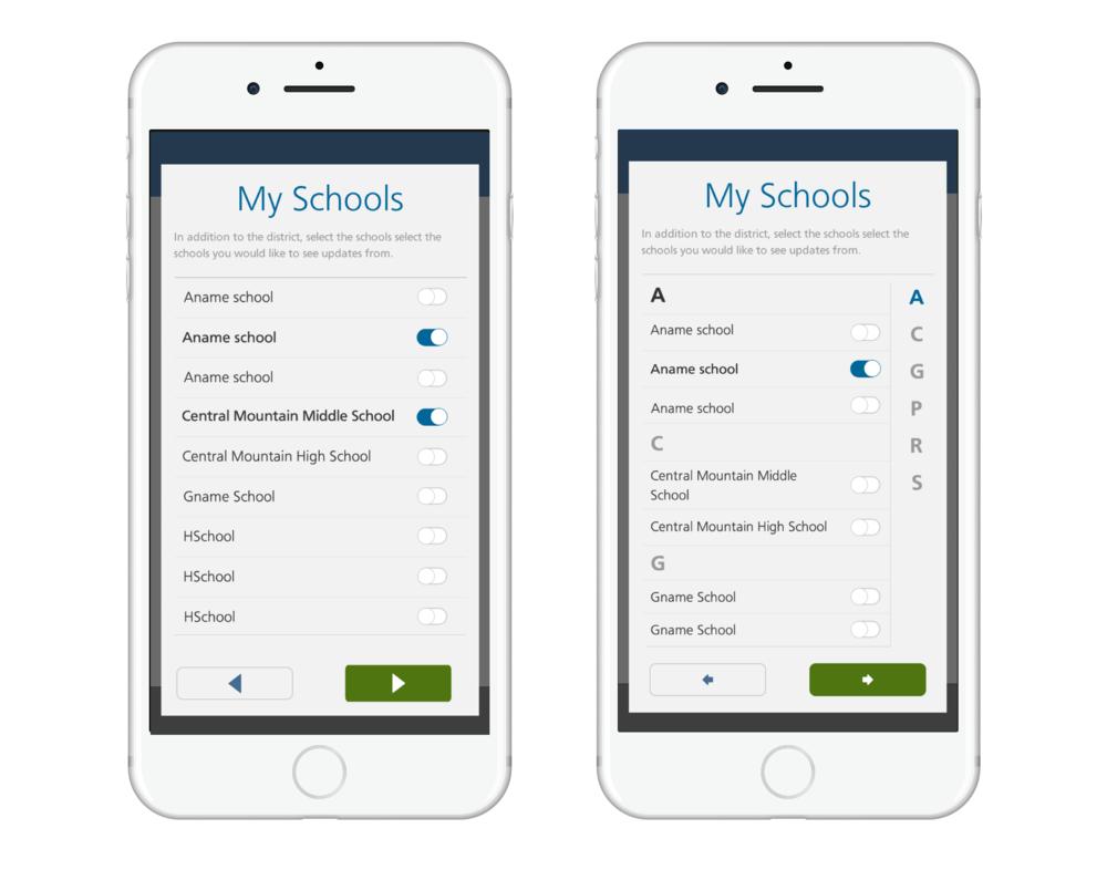 School Selections