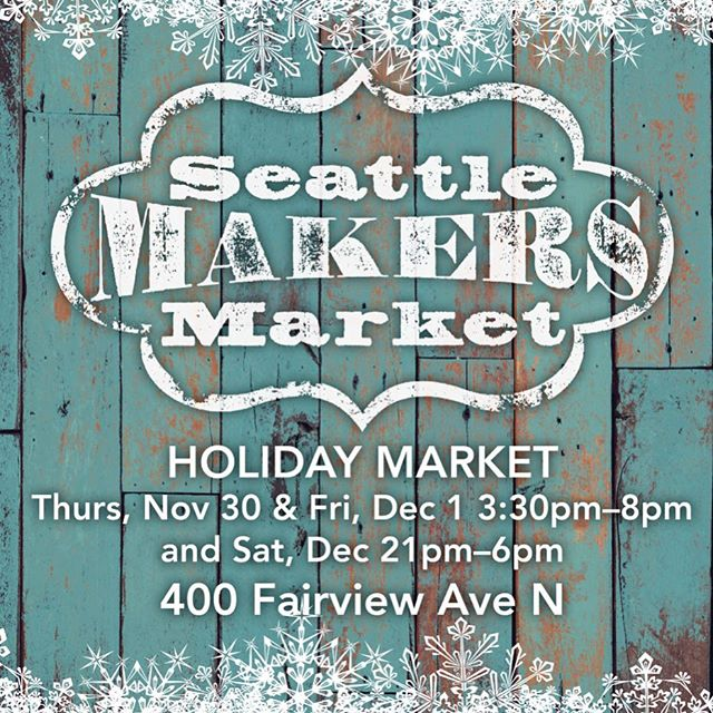 Introducing our Winter Holiday Market! Local artisans, live music, and raffles! #handmadeinseattle #southlakeunion #shopping #shoplocal #pnw #popupshop