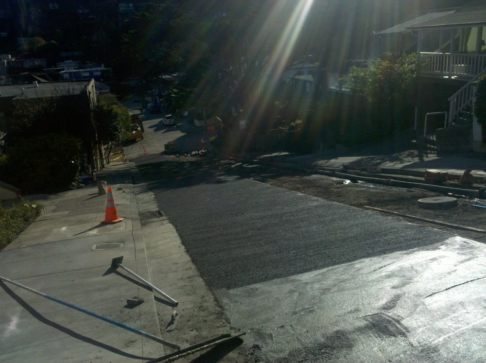 Concrete Street Finished -  Sausalito, CA