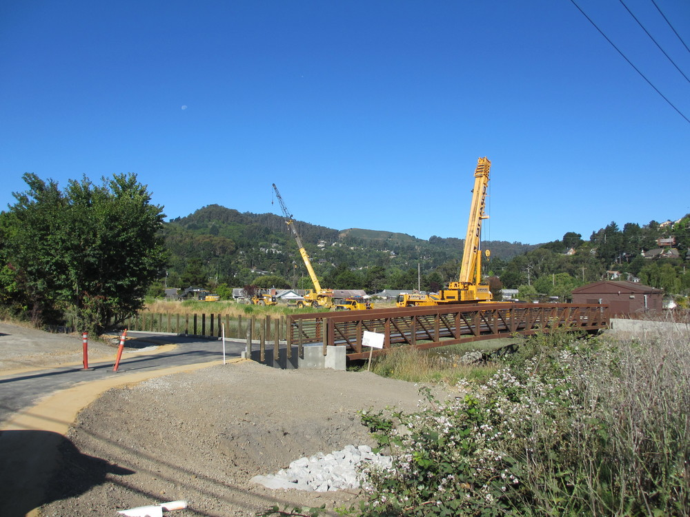 Pedestrian Bridge and Concrete Abutements - Mill Valley, CA