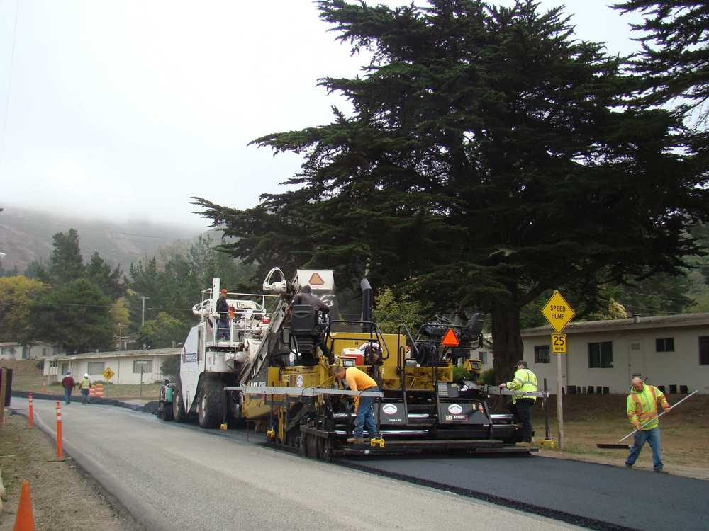 Paving thruogh Capehart Housing on Bunker Road
