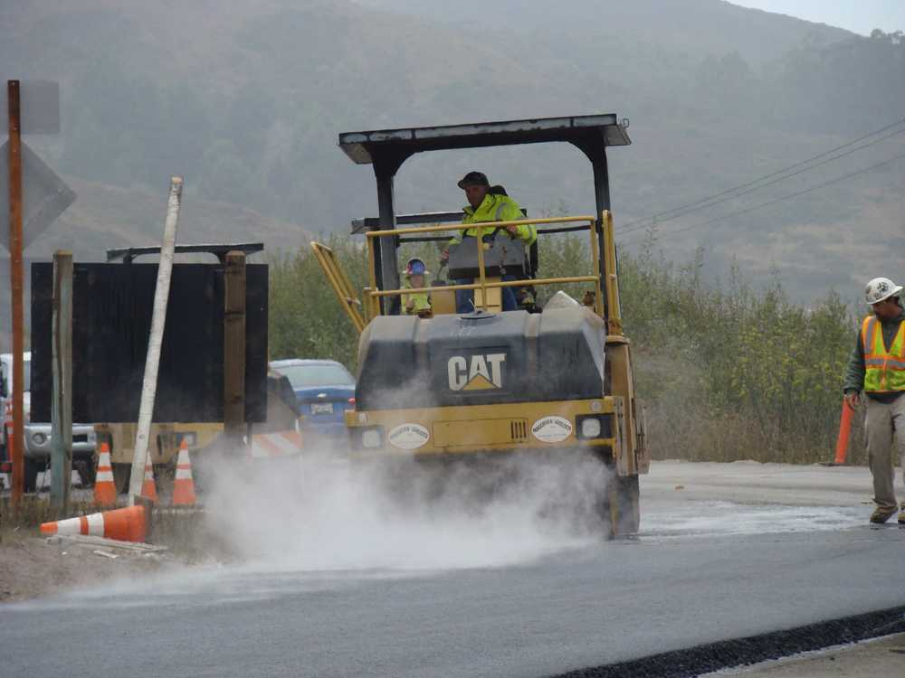 Rolling Asphalt Pavement on Bunker Road
