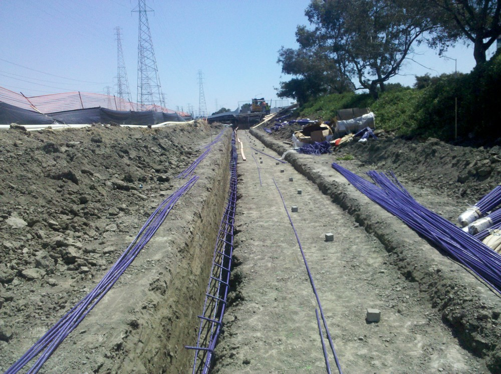 Footing ready, rebar tie and install in process at Seal Point Park