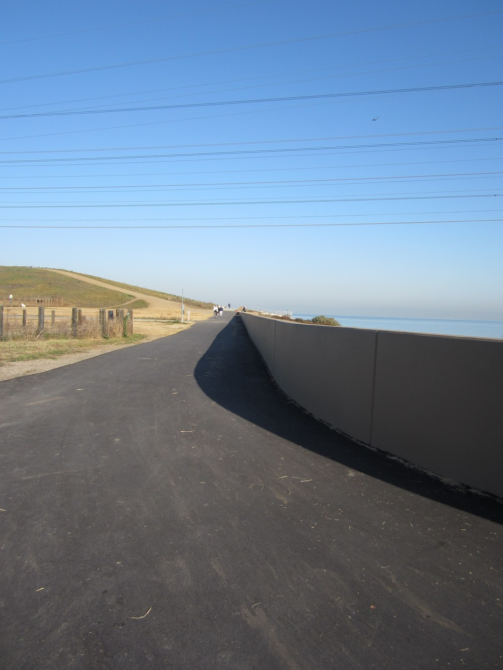 Completed Floodwall with Pathway at Seal Point Park