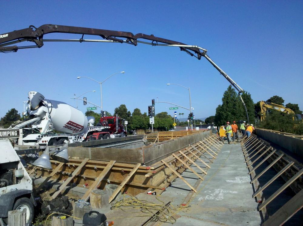 Pouring Floodwalls at Ryder Park