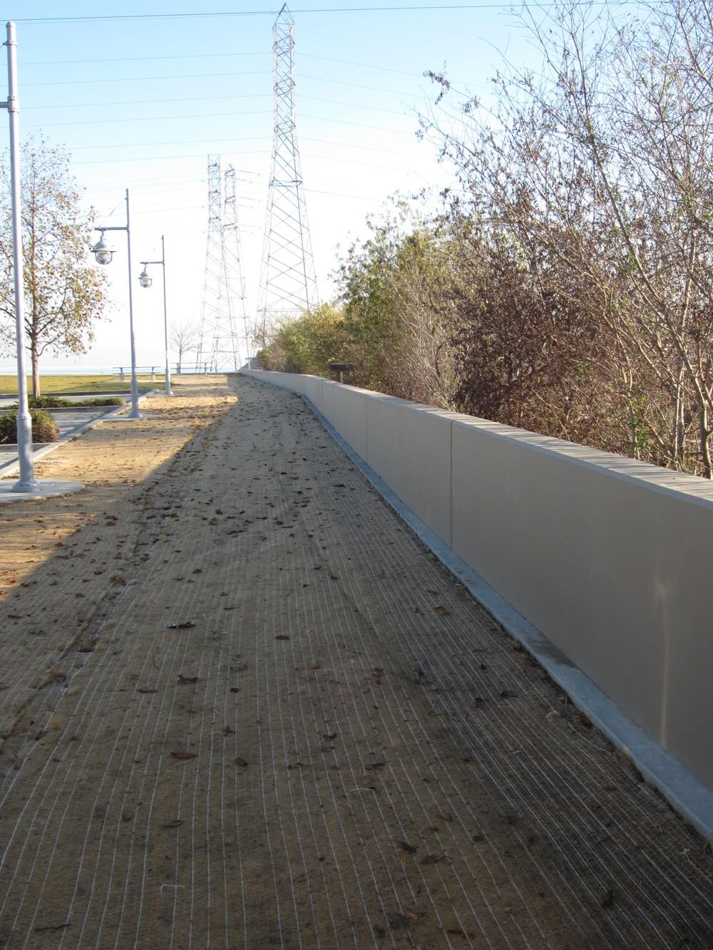 Finished Floodwalls at Ryder Park