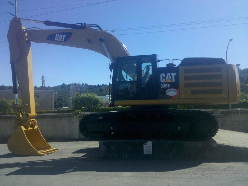 New 336 excavator just unloaded at M and G Shop