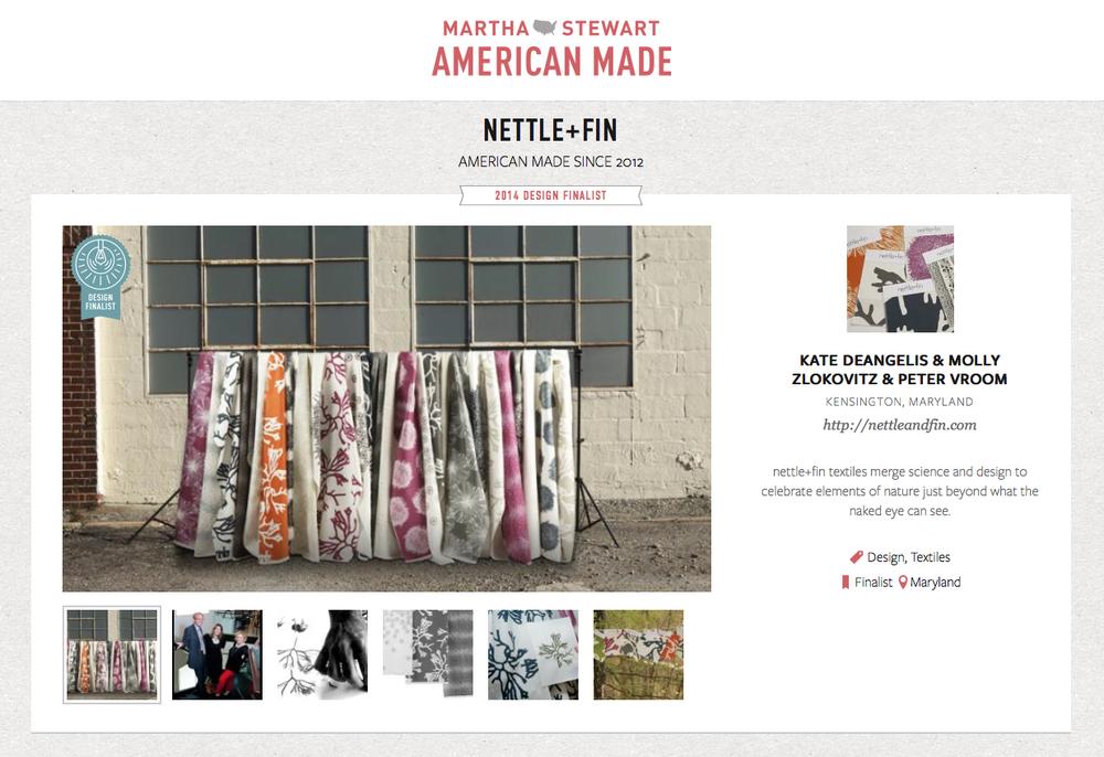 Martha Stewart American Made Contest 2014 • Finalist