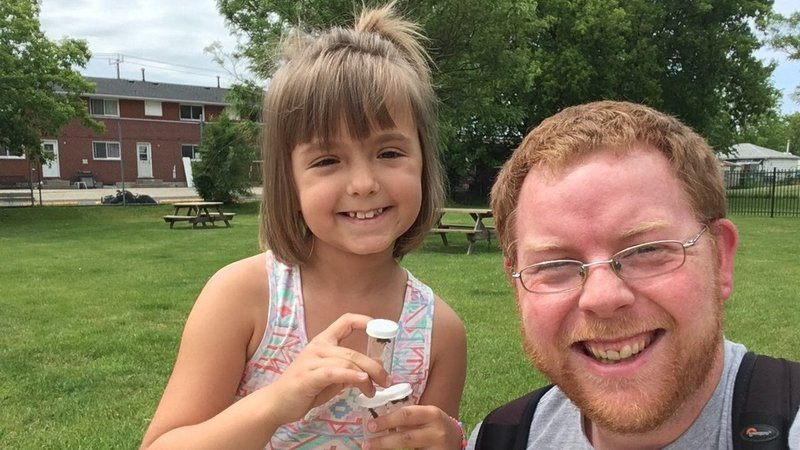 Sophia Spencer and Morgan Jackson co-wrote a scientific paper on Twitter, entomology and women in science, after a tweet about Sophia's love for bugs went viral.  Courtesy of Nicole Spencer