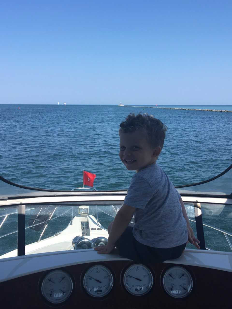 Think this kid likes boats?