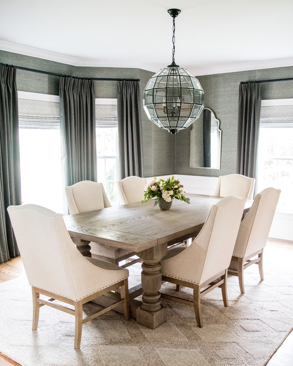 little meadow  gina baran interiors and design dining room luxury designer