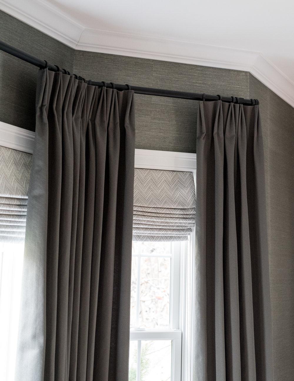 little meadow  gina baran interiors and design Boston luxury designer custom drapery
