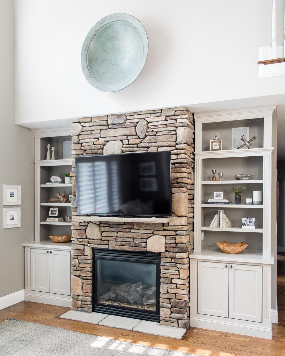 little meadow  gina baran interiors and design Boston luxury designer family  room design built-ins