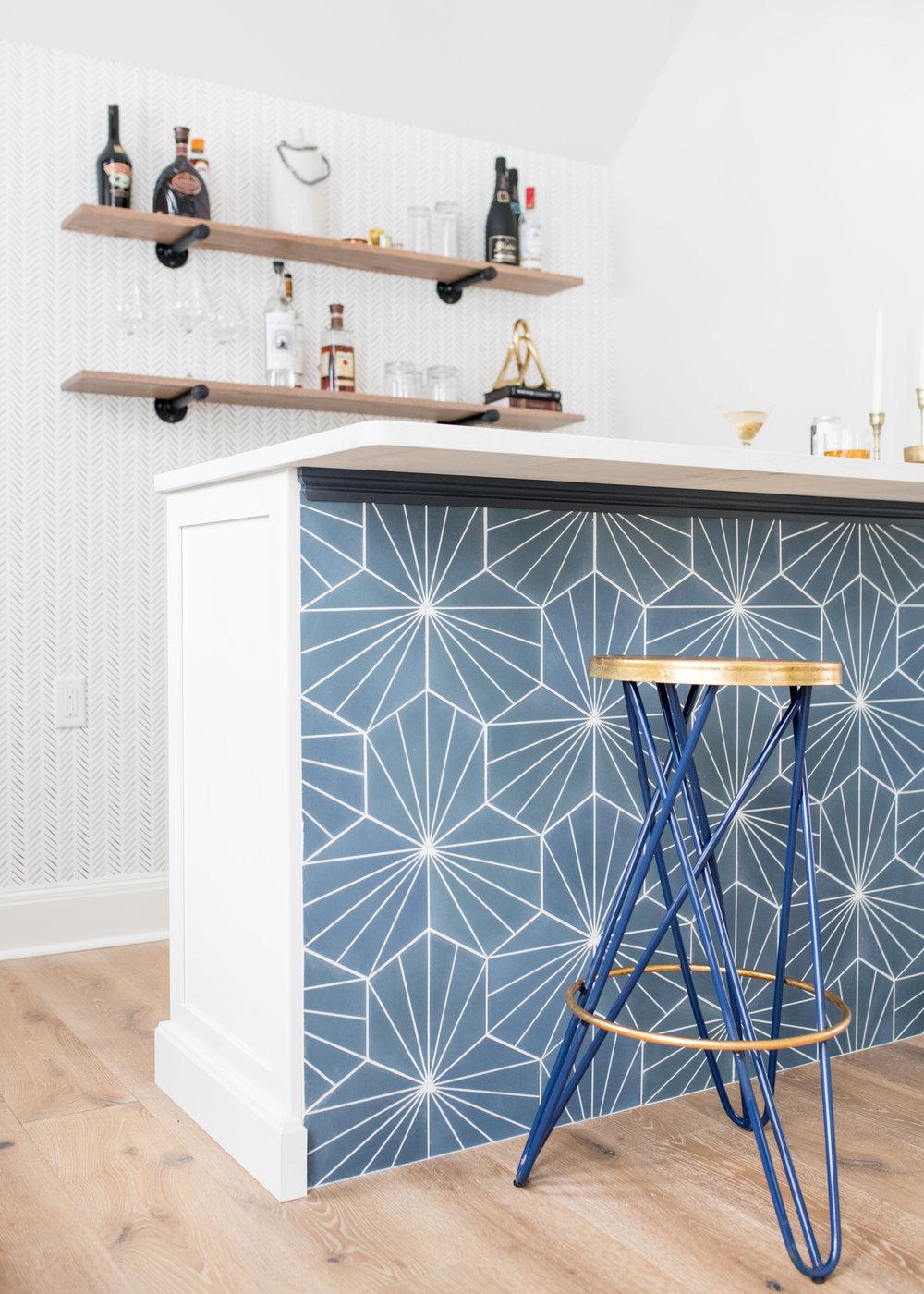 Bar Renovation / Interior Design Andover MA  Gina Baran Interiors + Design