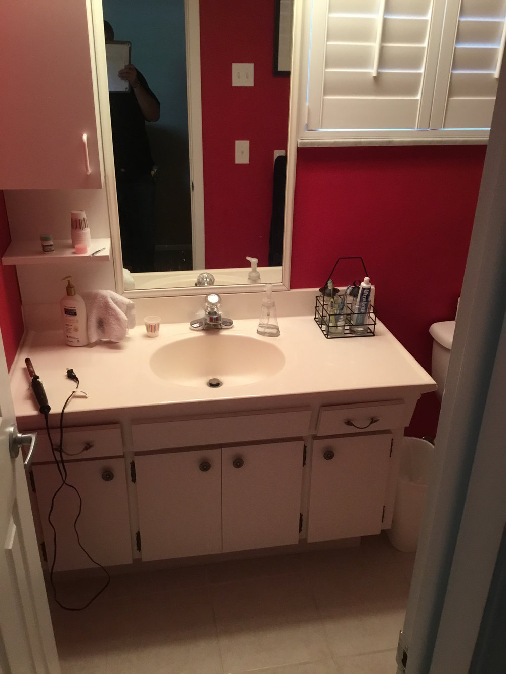 Master bathroom before.