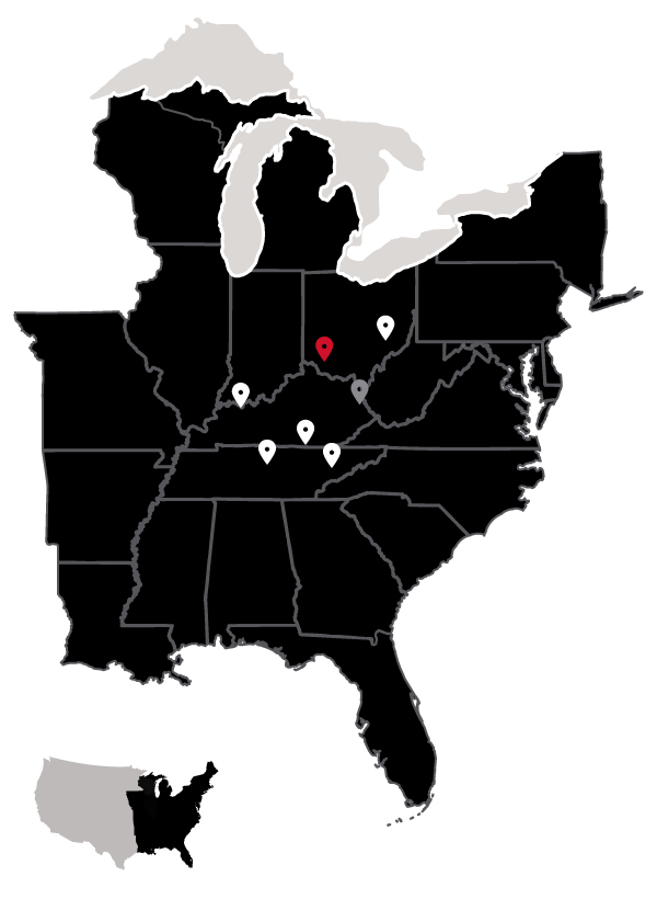 Map of our locations