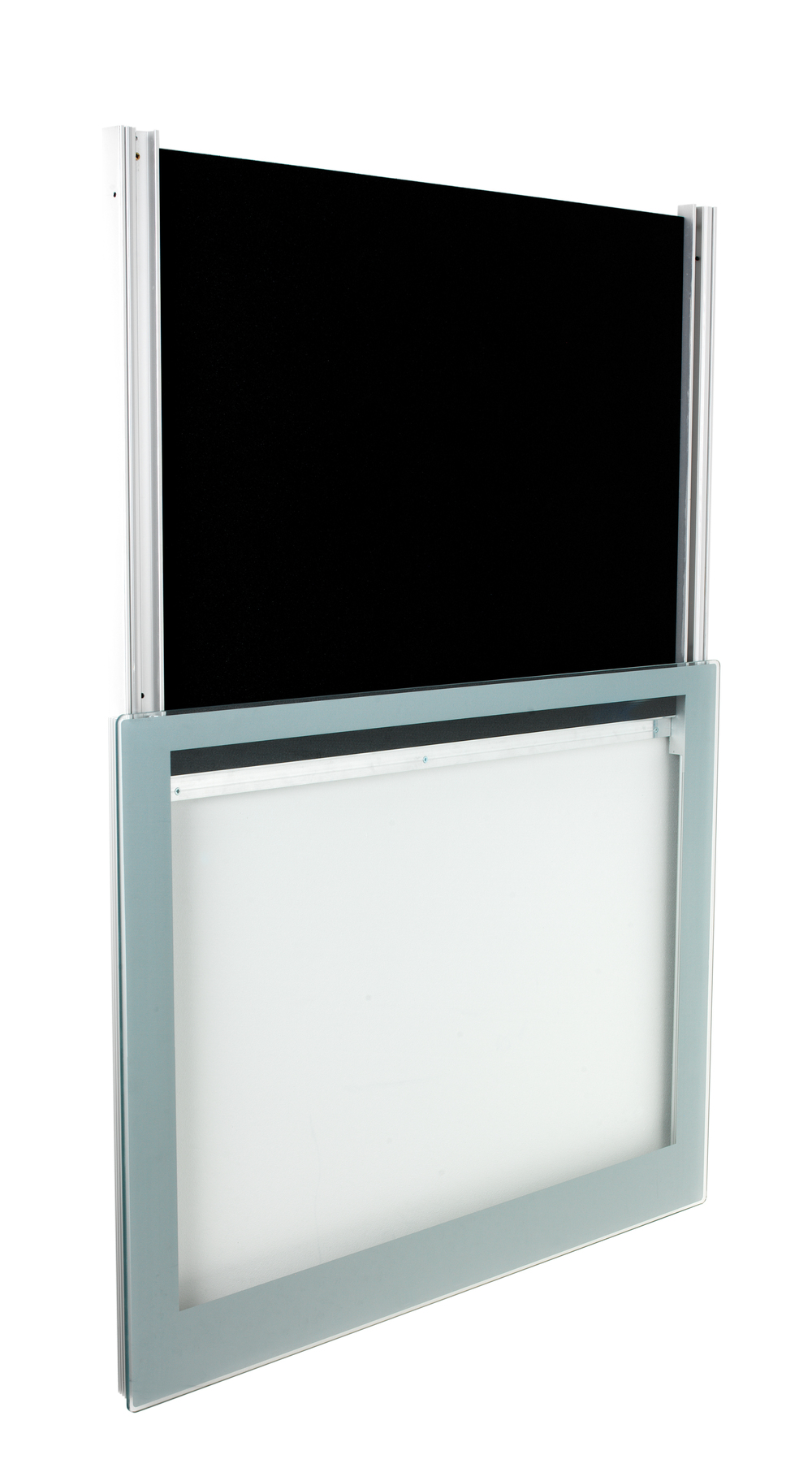 frameless sign display case