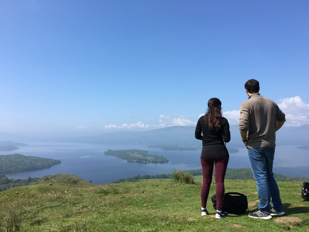 Staring out to Loch Lomond along the West Highland Way
