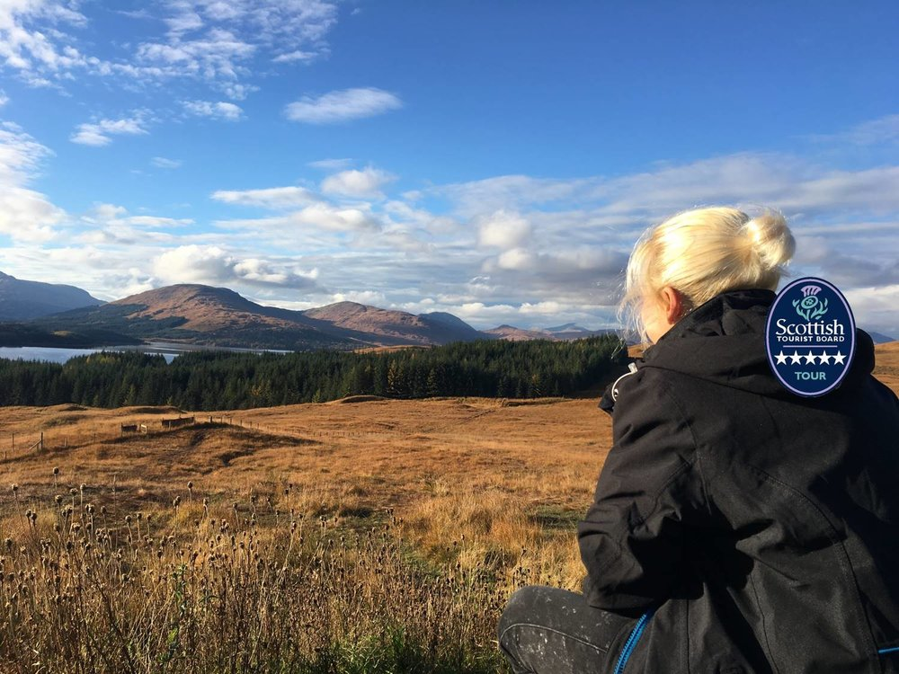looking out over rugged scottish scenery